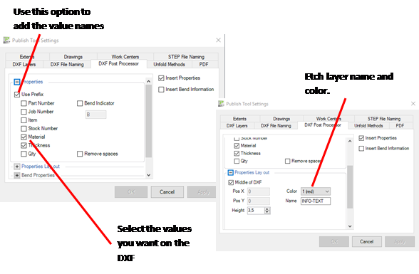 Export Layers in Publish Tool | MatProp Inventor Tools